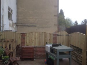 Birstall Tree Services Seating and Gate